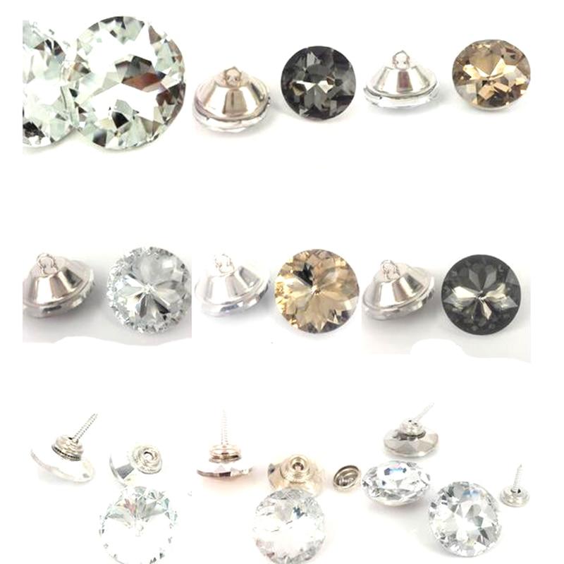 Nail Buttons: 150pcs Shiny Diamond Crystal Sofa Screw Nail Button Sofa