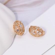MxGxFam модные серьги обруча для женщин массивные AAA+ циркон золотой цвет ювелирные изделия без никеля