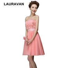 cf58fbb48 Barato simple coral sandía corto de dama de honor vestido de novia vestido  bridesmades vestidos de fiesta de gasa para fiesta de.