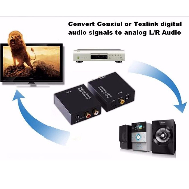 3 5mm Digital Coaxial Toslink Optical to Analog L R RCA Audio Converter Adapter 3 5 3 5mm digital coaxial toslink optical to analog l r rca audio rca converter box for tv at mifinder.co