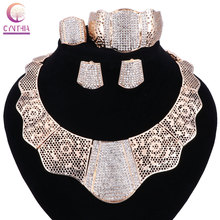 sale 2017 Bling-Bling Gold Fashion Jewelry Sets ,Chunky Necklace Bangle Black Women Costume Jewelry Set & More