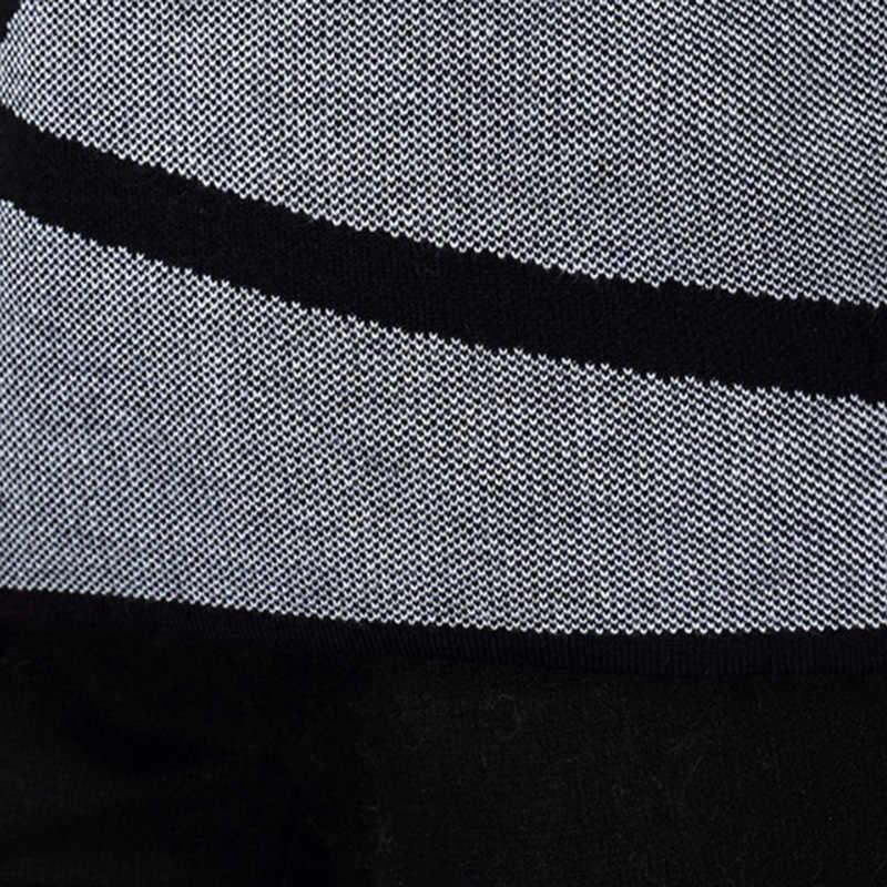 Contrast สีเสื้อกันหนาวฤดูหนาวผู้หญิง 2019 แขนยาวผู้หญิงเสื้อกันหนาวและ Pullover ถักเสื้อกันหนาวหญิงดึง Femme