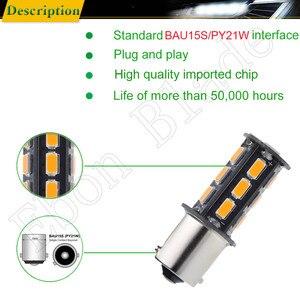 Image 4 - 10 Uds BAU15S luces LED de auto bombillas 5630 18SMD ámbar, anaranjado PY21W RY10W Coche Voiture Lampada bombilla de luz intermitente lámpara 12V
