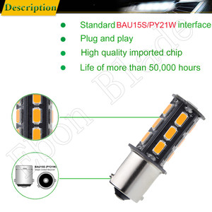 Image 4 - 10Pcs BAU15S LED Auto Lights Bulbs 5630 18SMD Amber Orange PY21W RY10W Car Coche Voiture Lampada Turn Signal Light Bulb Lamp 12V