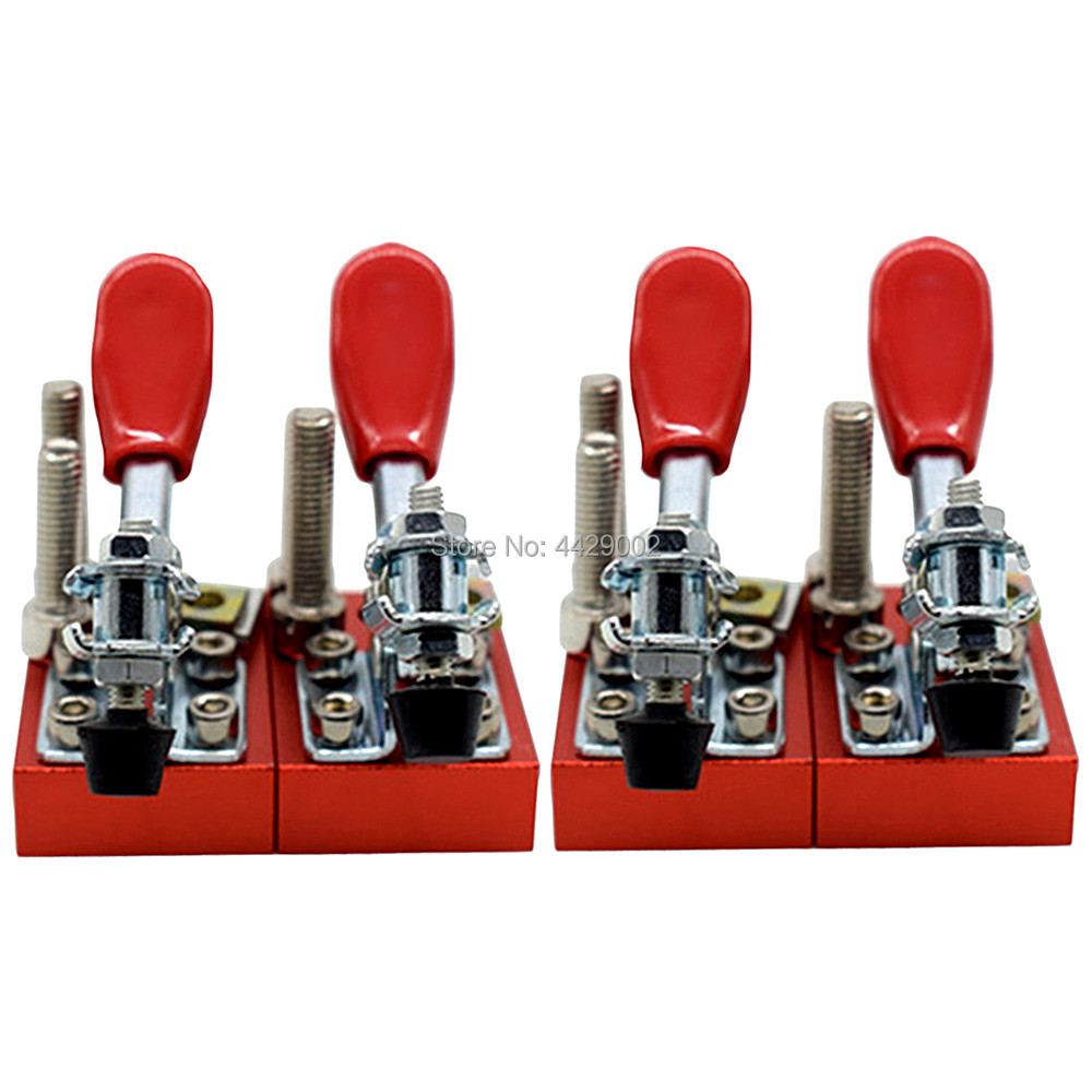 4pcs Cnc Router Fixture Quick Clamp Chuck Fixture Plate Engraving Carving Machine Fastening Platen Woodwork Router Plate Fixed Good Taste