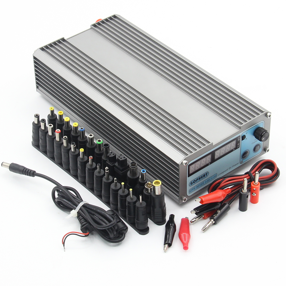 CPS-3010 II 30V 10A Precision Digital Adjustable DC Power Supply Switchable 110V/220V With OVP/OCP/OTP DC Power 1 pc cps 3220 precision compact digital adjustable dc power supply ovp ocp otp low power 32v20a 220v 0 01v 0 01a