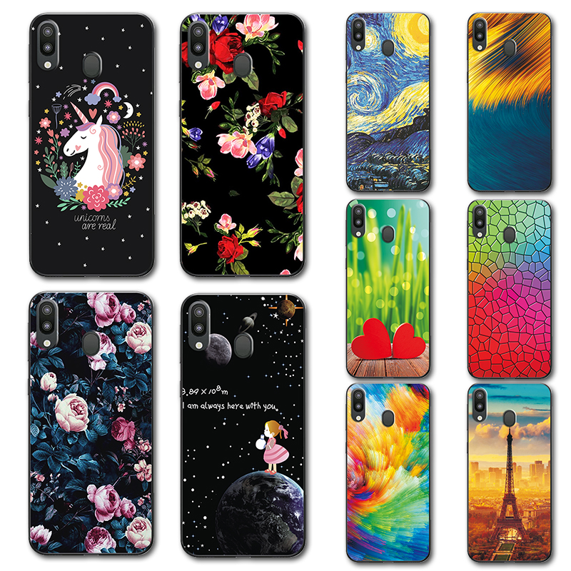 Case For Samsung Galaxy M20 6.3 Novelty Tpu Phone Case Cover For Samsung M10 Sm-m105f 6.22 Cute Covers Coque Galaxy M20 M205f High Quality Materials Phone Bags & Cases