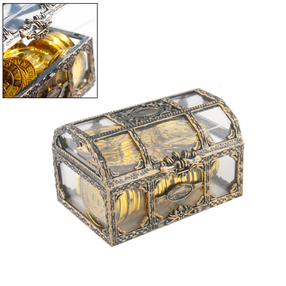 Plastic Box Storage-Box Treasure Transparent Pirate Jewelry Crystal For Gem Collectibles