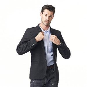 Image 2 - FGKKS New Arrival Fashion Blazer męska casualowa kurtka solidna kolorowa bawełniana męska żakiet z dzianiny dresowej męska klasyczna męska marynarka płaszcze