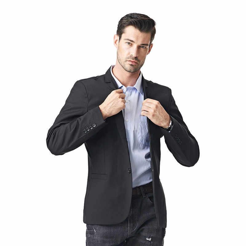 FGKKS 新到着ファッションブレザーメンズカジュアルジャケット無地綿男性ブレザージャケット男性クラシックメンズブレザーコート