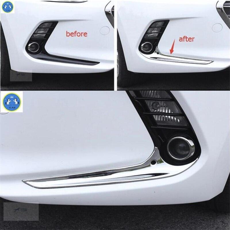 Aliexpress Com Buy Lapetus Accessories Fit For Hyundai: Lapetus ABS Chrome Front Fog Lights Lamp Eyelid Cover Trim