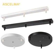 Лампа база три лампы люстры светильник фитинги высококачественный светильник ing аксессуары черный белый круглый прямоугольный розовый навес пластина