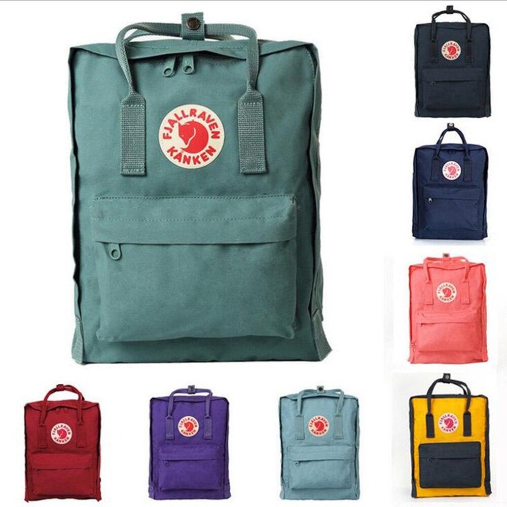 5fe4c020b647 Оригинальный бренд школьный kanken рюкзак классический Мини рюкзаки  школьная сумка 2019 16l с лисой Логотип Рюкзак женские и мужские для  мальчико.
