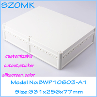 1 piece free shipping clear waterproof cover box for pcb waterproof electrical enclosure project box 331x256x77 mm
