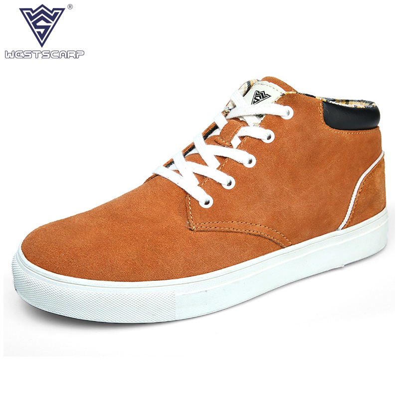 WEST SCARP Men Shoes Winter Autumn Genuine Suede Leather Shoe Men Sapato, High Quality Fashion Men's Casual Shoes west scarp mujer shoes fashion summer flats loafers women leather shoes daily casual woman shoes spring autumn sapato feminino