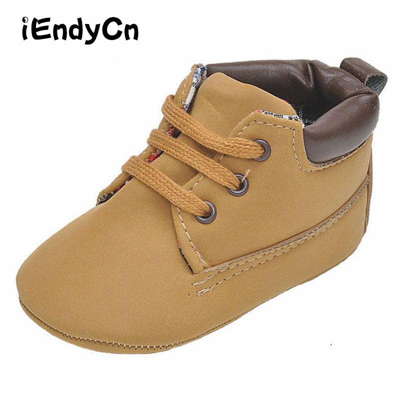 Kidadndy Newborn Shoes Boy Girl 2017 Winter Christmas Pure Color Baby Shoes Baby Toddler Shoes 0 And 1 Year Old A9