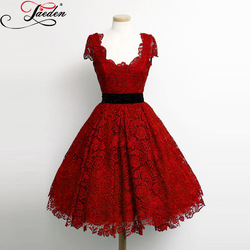 Jaeden vintage cap sleeves short party gowns lace appliques a line custom color and sizes 2017.jpg 250x250
