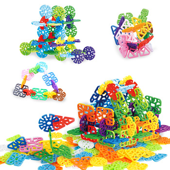 Digital Plum Flower &Snowflake Building Blocks Children Game Toy Baby Educational Toy Gift for Kids Classic Toys