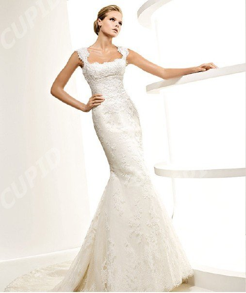 Trumpet Wedding Gowns With Sleeves: New Wholesale Retail Cap Sleeve Trumpet Organza Wedding