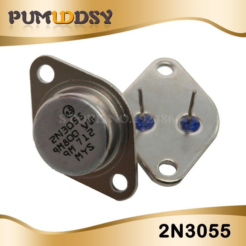5Pcs 2N3055 TO-3 NPN AF Amp Audio Transistor 15A/60V IC