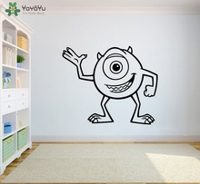 Mike Wazowski Wall Stickers For Kids Rooms Cute Monsters Removable Vinyl Decal Interior Poster Bedroom Gift Baby DecorSY373