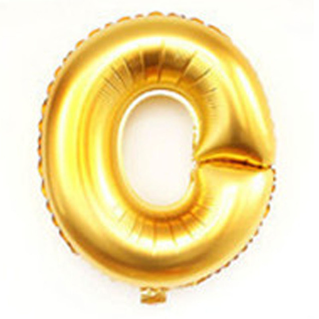 40 inch alphabet balloons party decoration supplies gold silver large helium foil birthday wedding mylar letter