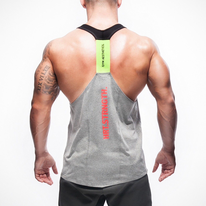 Men New Style Gyms   Tank     Tops   Sleeveless Shirts Bodybuilding Clothing Undershirt Fitness Vest Work Out Clothing