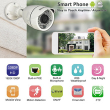 HOSAFE POE IP Camera Outdoor 1080P with Audio Home Security Surveillance Camera 50ft night vision Motion