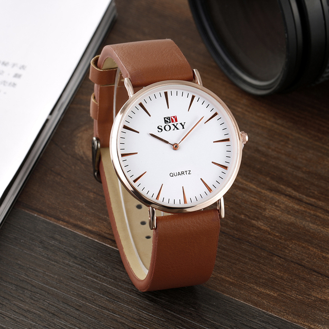 f9b5ef29c Hot Selling Fashion Rose Gold Watches Leather Montre New Design Leather  Strap Quartz Watch Women Watches Lady Hour Montre Homme