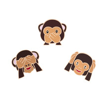 Cartoon fashion badge Cute animal icon brooch enamel pins monkey dinosaur t-shirt jackets bag kid family pin jewelry accessories(China)
