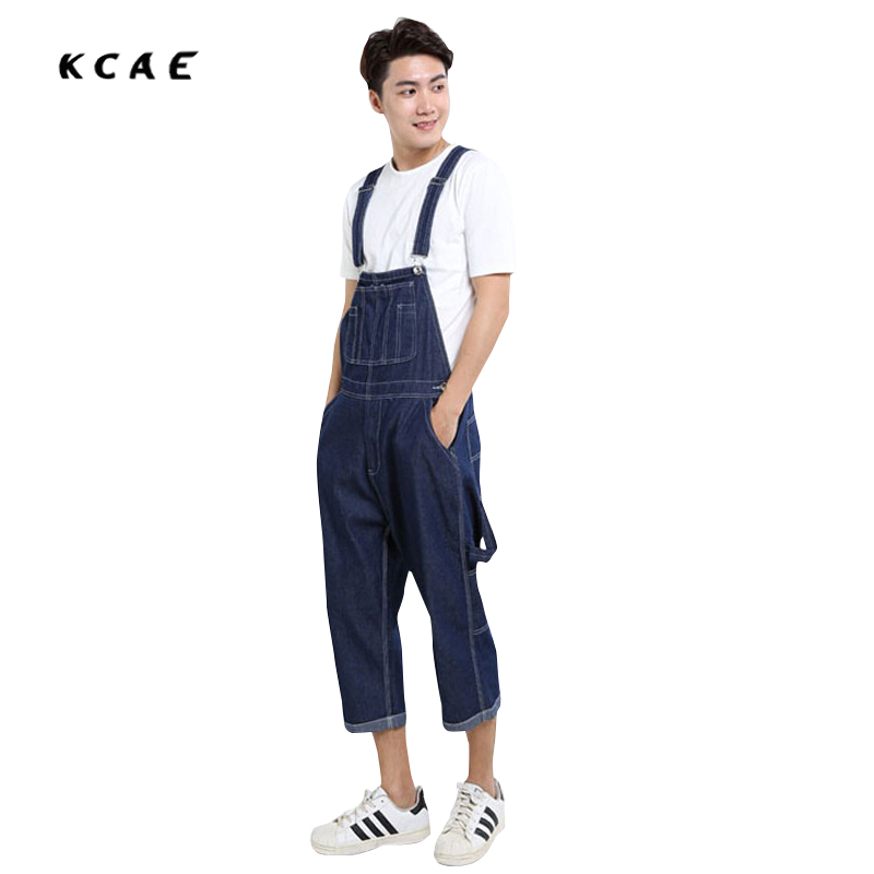 New Hip Hop Pants Summer Fashion Mens Loose Jean Overalls Casual Bib Jeans For Men Male Denim Jumpsuit  Size 28-42 2016 new fashion men vintage trousers casual jeans pants loose plus size 28 42 overalls overalls denim jumpsuit