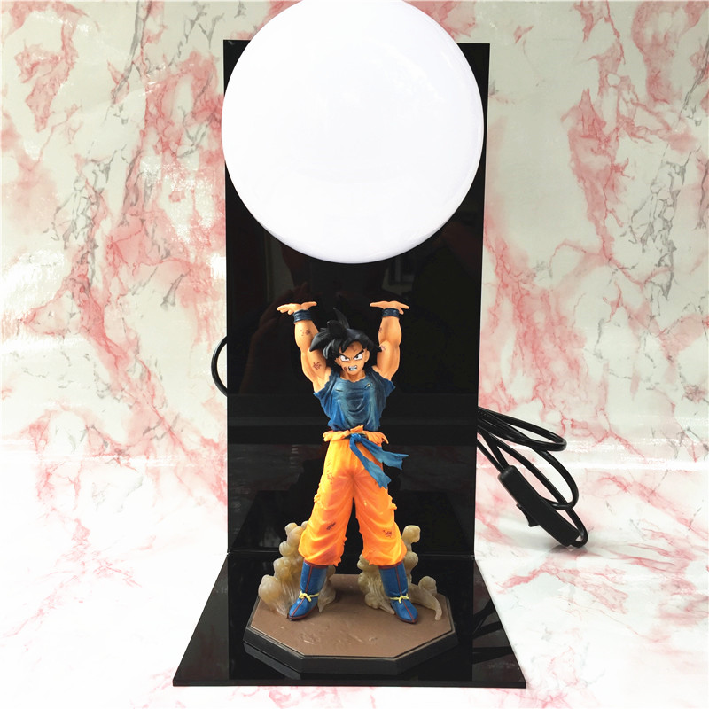 Anime Dragon Ball Goku Figures Super Saiyan LED Spirit Bomb Goku table lamp PVC Dragon Ball Action Figure Collectible Model Toys 1 pcs anime dragon ball z toy figure super saiyan goku pvc action figures big size dragonball model toys for boys kids wholesale