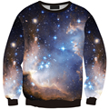 Горячая мужчины женщины с капюшоном Кофе Night Sky распечатать 3D galaxy толстовка с капюшоном high street хип-хоп на открытом воздухе Черный пот Весна пуловер