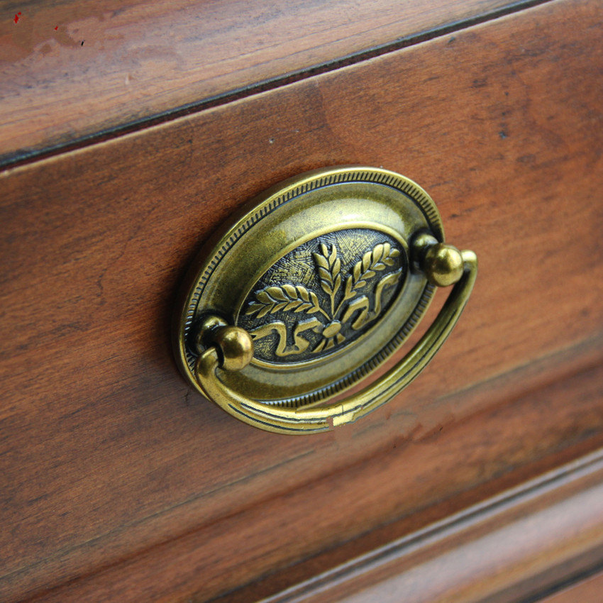 52mm 64mm drop rings retro furniture handle bronze drawer cabinet pull knob 2.5 antique brass dresser door handles Top quality antique distress drawer knob bronze kitchen cabinet handle knob antique brass dresser cupboard furniture door knobs handles 30mm