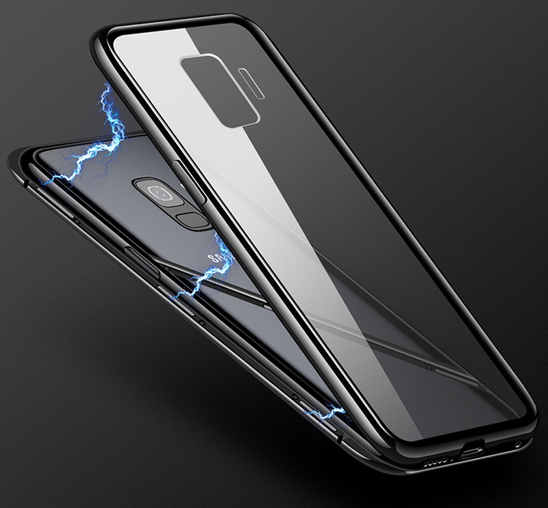 Image 2 - Magnetic Adsorption Metal Case For Samsung Galaxy S8 S9 S10 Plus S10E S7 Edge Note 8 9 M20 M10 A30 A50 A7 A8 A9 J4 J6 Plus 2018-in Fitted Cases from Cellphones & Telecommunications