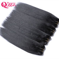 Dreaming Queen Permed Light Yaki Mongolian Remy Hair Indian Yaki Weave Natural Black 1B Color 100