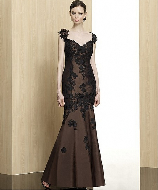 7ae7ac6cc Encaje negro largo hermoso vestidos fiesta sirena elegante vestidos de  baile longo galajurken