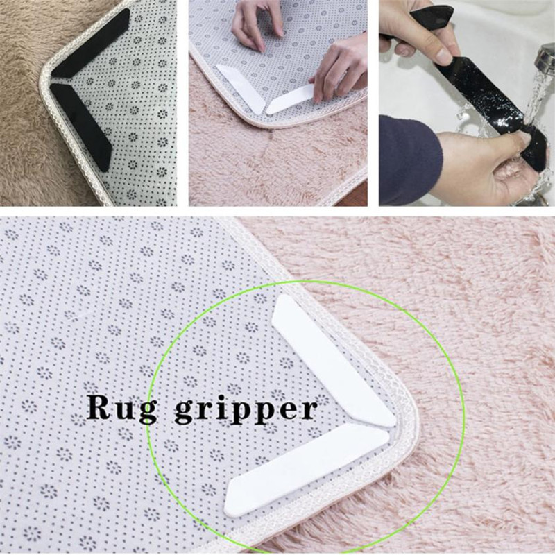 8pcs Silicone Non Slip Sticker for Doormat Rug Anti Slip Home Tile Floor Mat Rug Gripper Safe for Home Outdoor Carpet Rugs