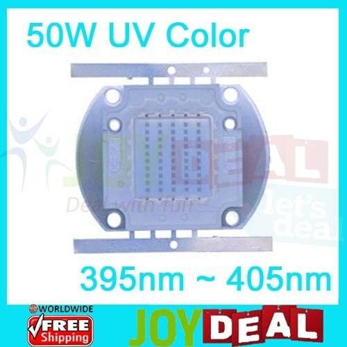 50W Ultra Violet UV Color High Power LED Lamp Light DC30-36V 1.6A 395-405NM
