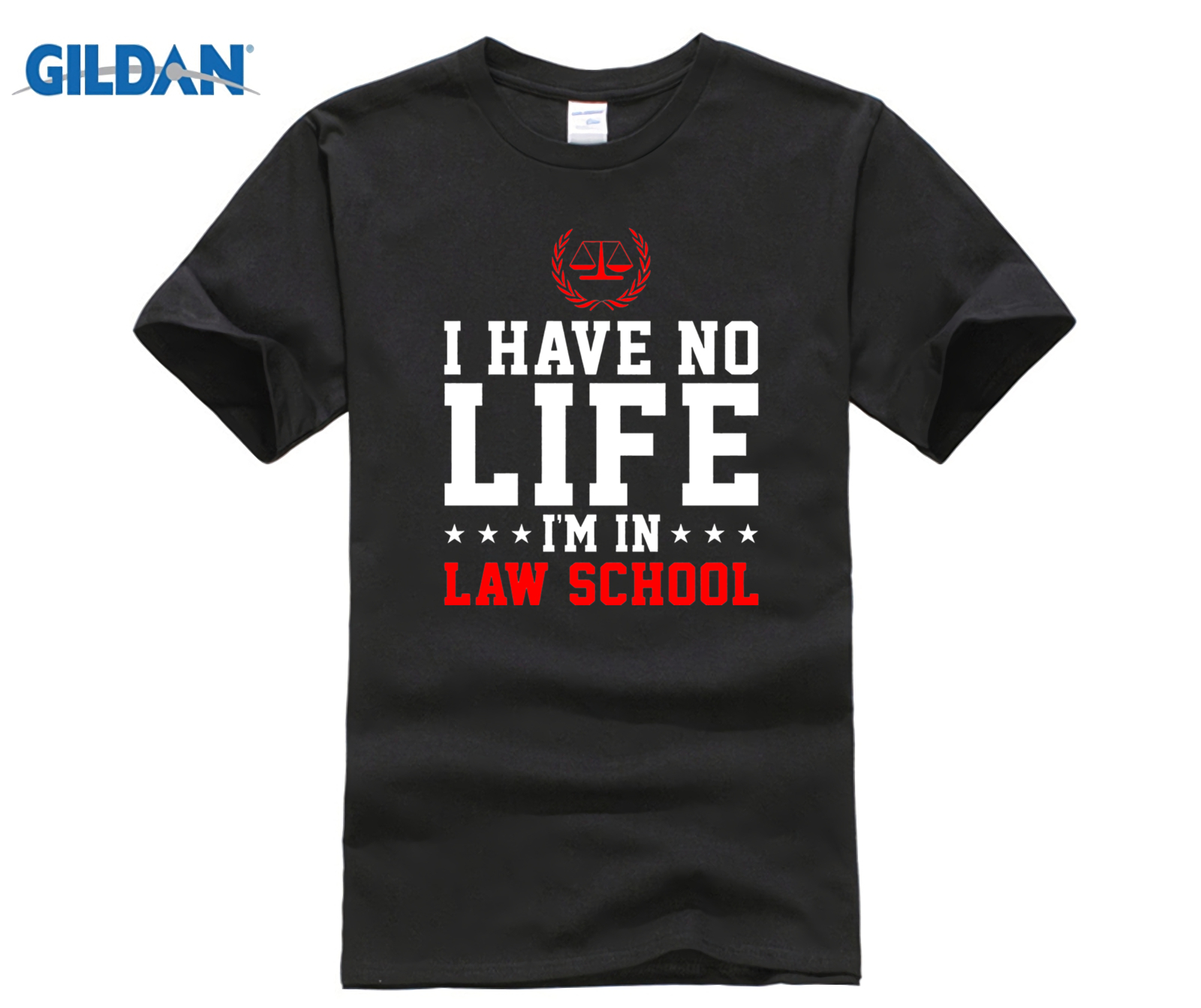 I Have No Life I'm In Law School Lawyer Funny Shirt Gifts 100% Pure cotton O signage flower item tile covering image