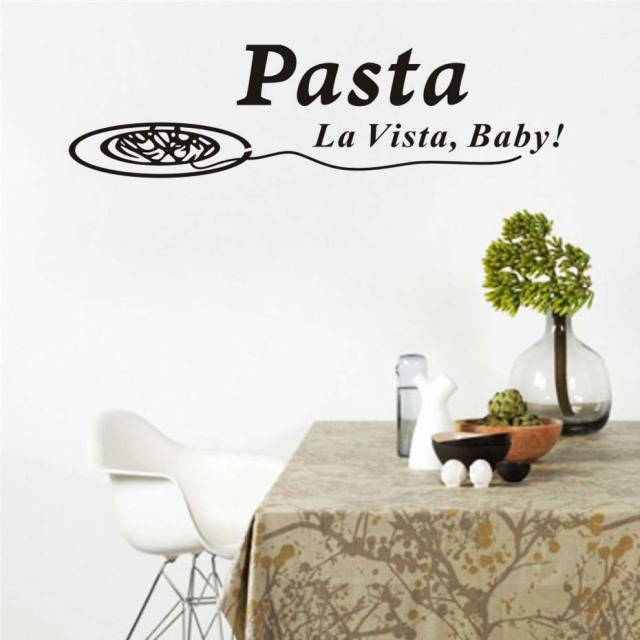 Pasta La Vista Baby Vinyl Wall Art Stickers Quotes Waterproof Art Enchanting Wall Art Quotes