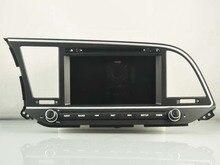 Восьмиядерный Android 6.0 Автомобильный GPS dvd-плеер 1024*600 для Hyundai Elantra 2016 2017 gps-навигации стерео аудио видео плеер