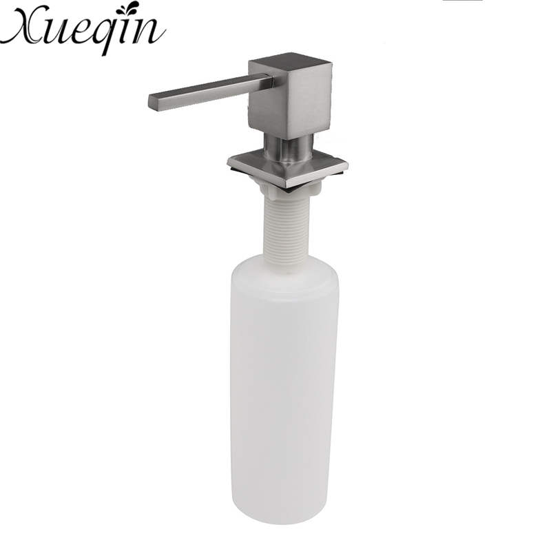 Xueqin Stainless Steel Liquid Soap Dispenser Detergent Lotion Shampoo Bottle Container Sink Pump For Kitchen Bathroom