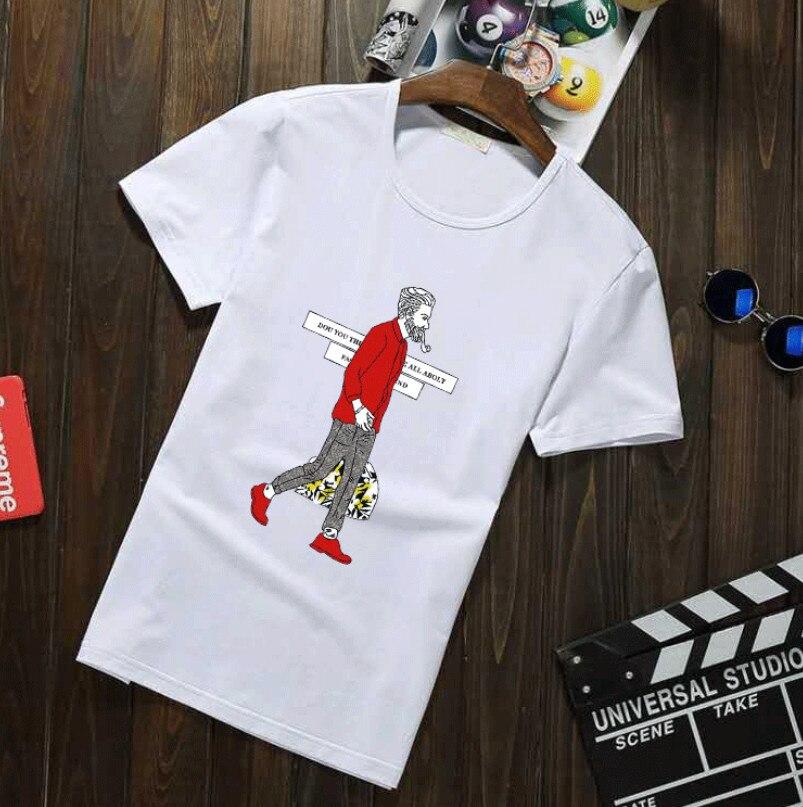 2018 t-shirt in cotone maniche corte Casual maschio maglietta marvel t-shirt gli uomini Fast Dry Solid Maniche Corte Collare Piatto Mens magliette e camicette Mal