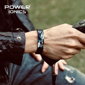 Image 3 - Power Ionics Titanium Ion F.I.R 3D Camo Bracelet Balance Wristband Energy PT048