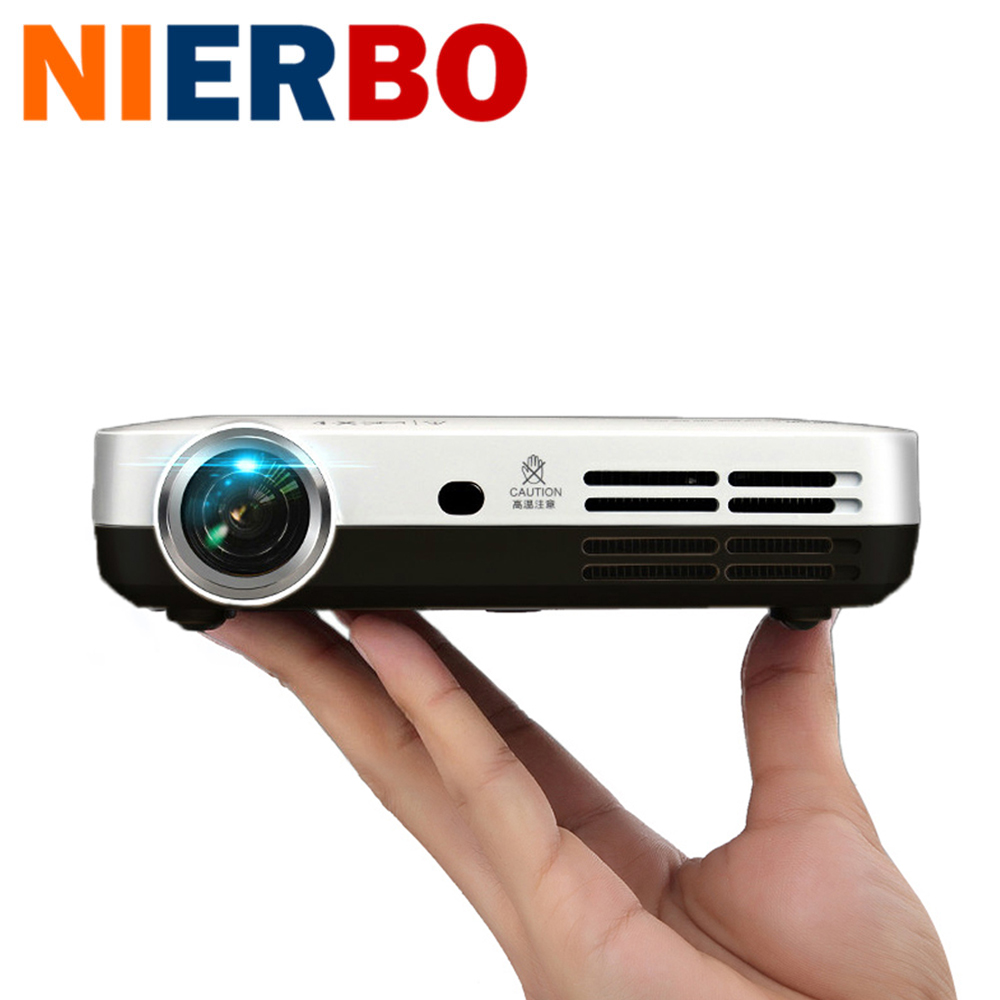 nierbo mini projector led projector full hd android smartphone video projecteur dlp wifi. Black Bedroom Furniture Sets. Home Design Ideas