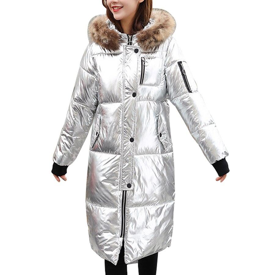 winter fashion silver down jacket female parkas street. Black Bedroom Furniture Sets. Home Design Ideas