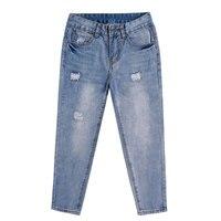 Basic Denim Jeans Classic 4 Season Women Low Waist Jeans Vintage Mom Style Pencil Jeans High Quality Cowboy Denim Pants