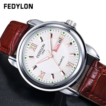 Montre Homme New Luxury Mens Watches Super Soft Leather Clock Men Date Day Calendar Waterproof Hour Quartz Wrist Watches For Men