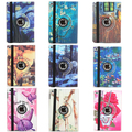 Luxury colorful flower butterfly print tablet pc 360 degree rotating case For Apple iPad 2 3 4 stand holder folding folio cover